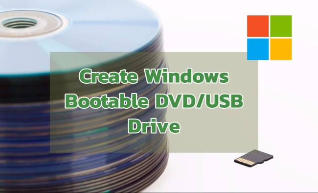 Create Windows 10/8.1 bootable DVD or USB Pendrive