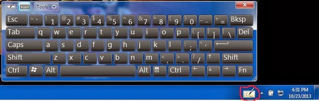 virtual keyboard in windows7