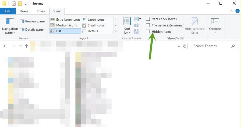 unhide files windows 10