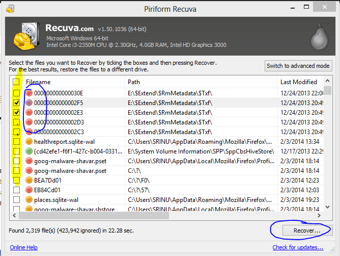 Recover Shift Deleted Files in Windows 8.1/7/10 PC