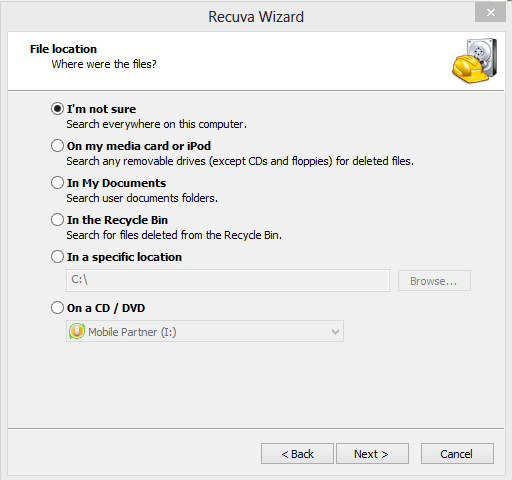 recover folder in windows 8.1
