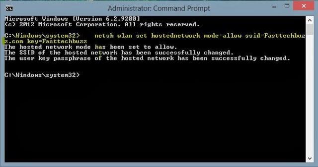 Create hotspot networki in Laptop