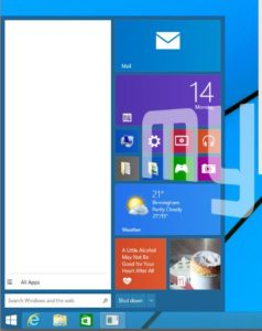 windows9 start menu