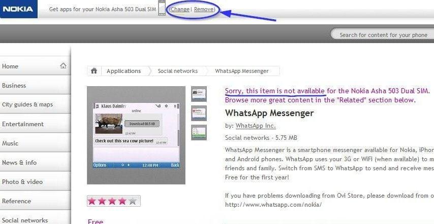 whatsapp for nokia x