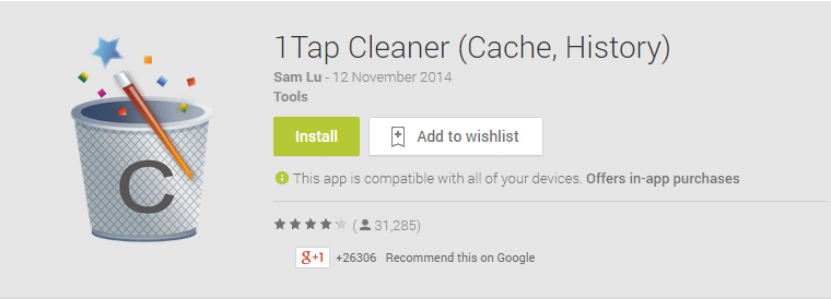 1Tap Cleaner Android App