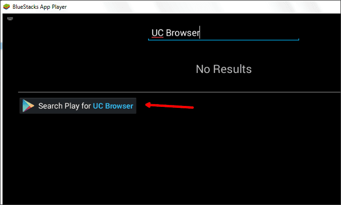 uc browser bluestacks