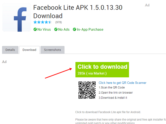 Facebook Lite APK Download for Android, Facebook Lite App