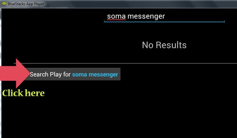 Search SOMA on Bluestacks