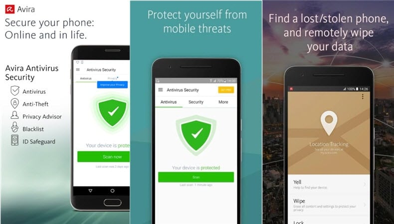 Avira antivirus on Android