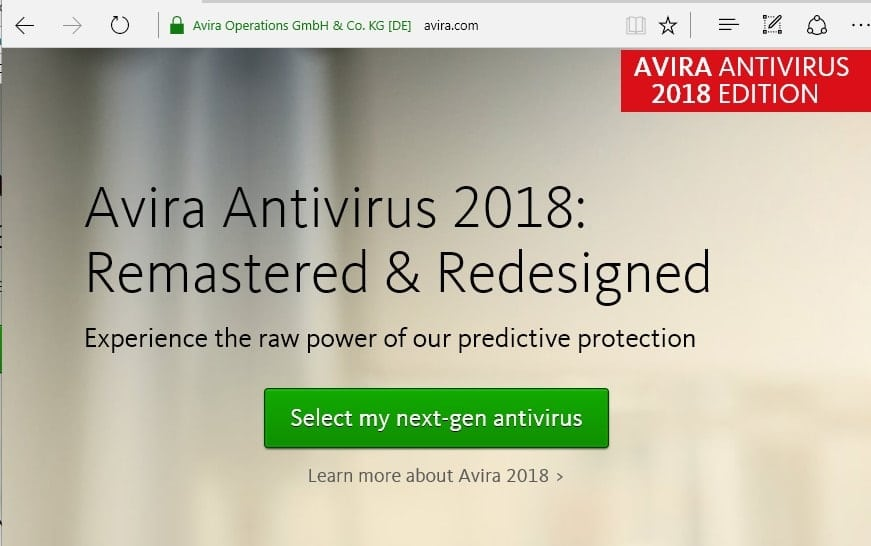 Avira windows 10