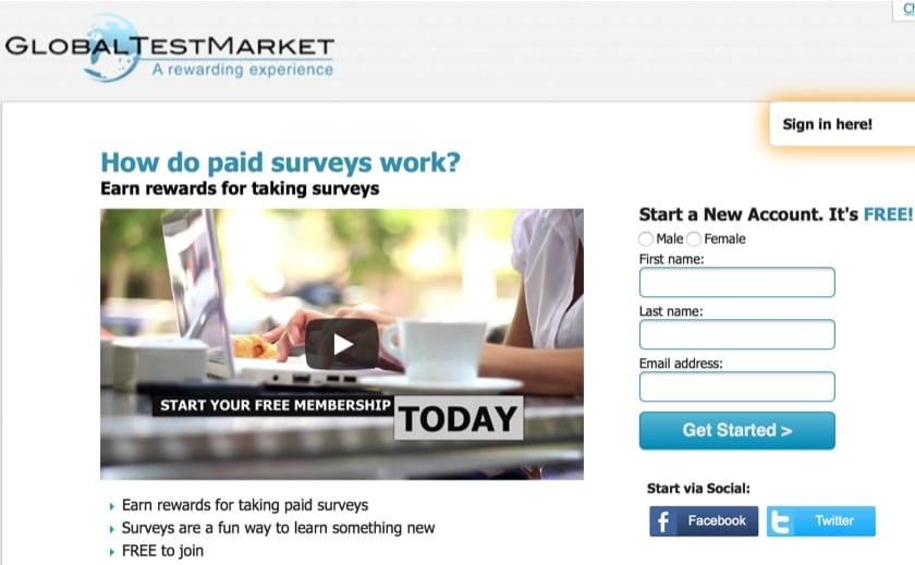 GlobalTestMarket Online Surveys
