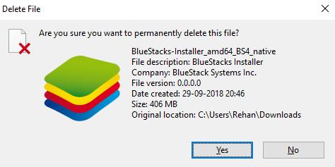 bluestacks error screen