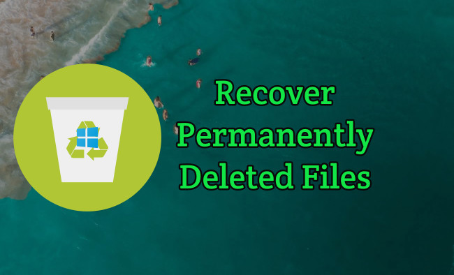 Recover Shift Deleted Files in Windows 10 PC